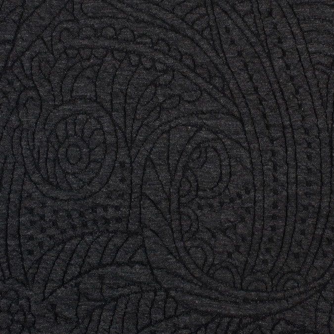 heather black charcoal dimensional paisley knit 308050 11