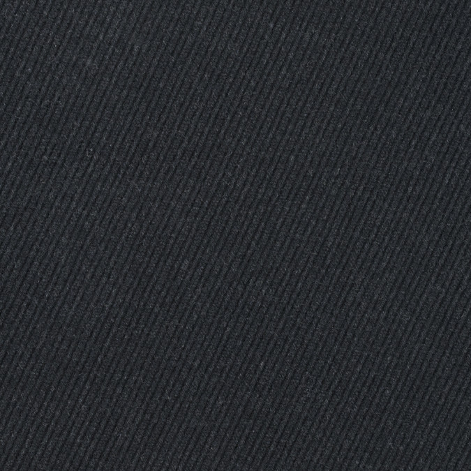 heathered black diagonal ribbed wool coating 313974 11