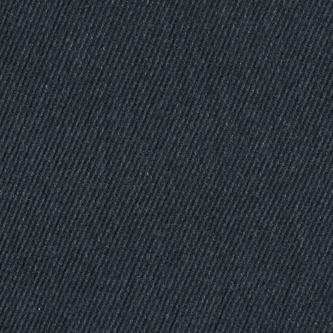 heathered black fleece backed heavy wool twill 313976 11