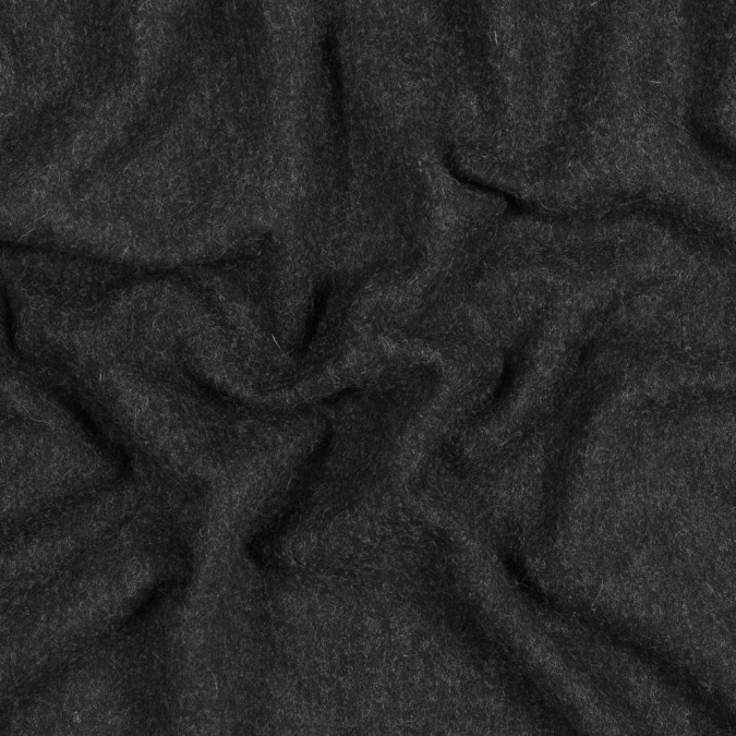 heathered black wool coating 317215 11