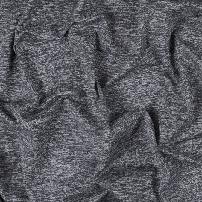 heathered chrarcoal gray stretch polyester jersey 312566 11