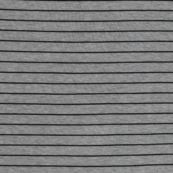 heathered gray and black pencil striped rayon jersey 317297 11