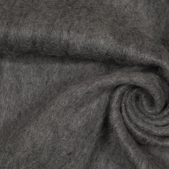 heathered gray fuzzy mohair wool acylic woven 305875 11