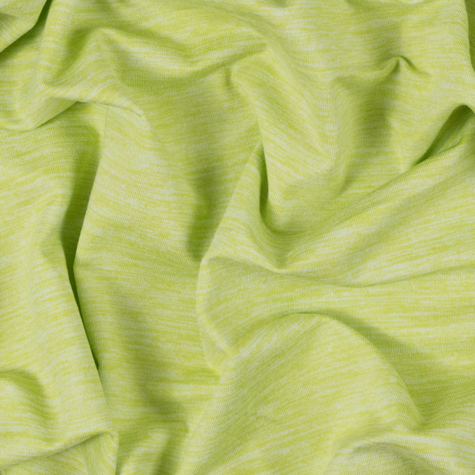 heathered lime stretch polyester jersey 312532 11