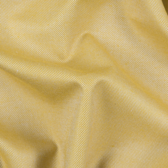 heathered misted yellow cotton tencel double sided brushed flannel 309456 11