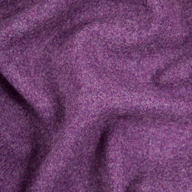 heathered violet grape wool woven coating 310631 11
