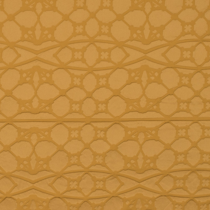 honey gold geometric embossed taffeta 315487 11