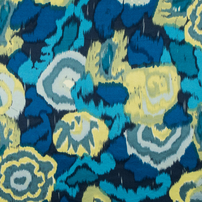 imperial blue and limeade ikat printed silk charmeuse 315699 11