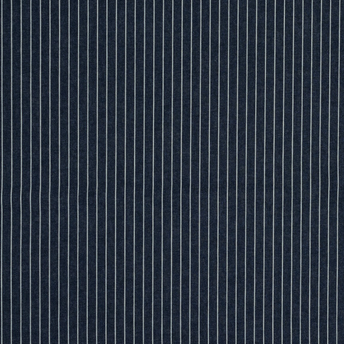 indigo and natural striped cotton denim 318115 11