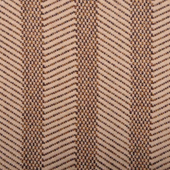 italian beige chocolate striped wool cotton coating fw11147 11