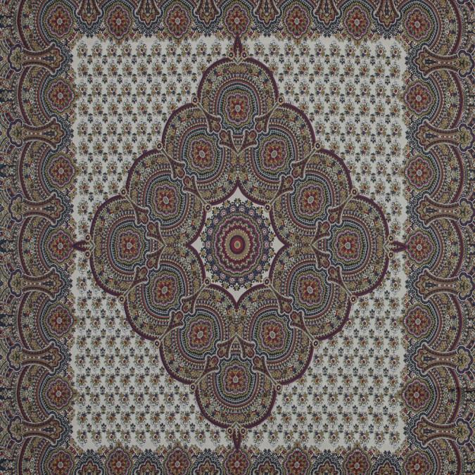 italian beige paisley square paneled print 317632 11
