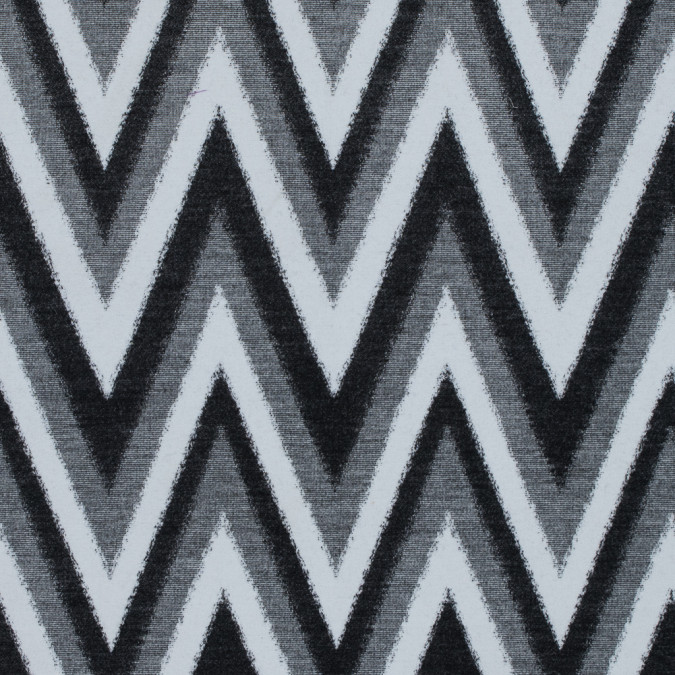 italian black gray and white zig zag brushed woven 313698 11