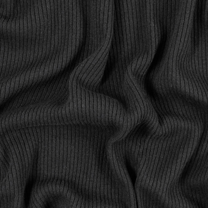 italian black 2x2 wool rib knit 314981 11