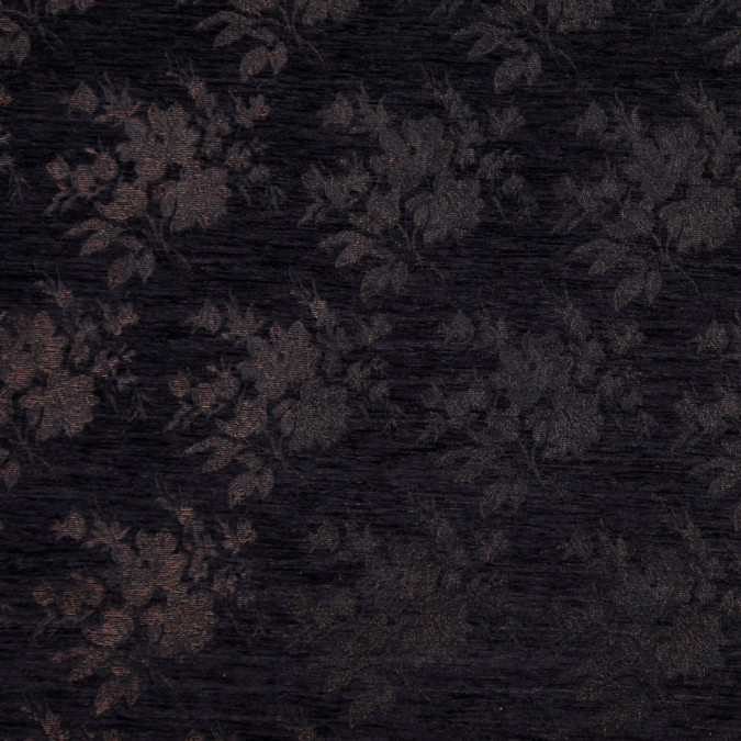 italian black and brown floral rayon chenille fp19637 11