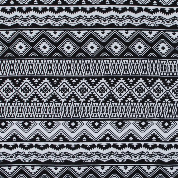 italian black and white tribal rayon challis 316796 11