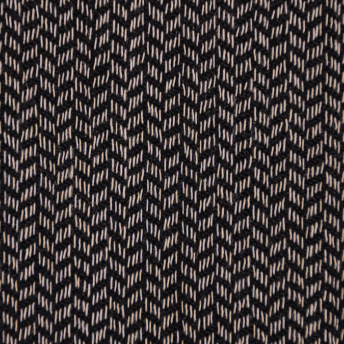 italian black beige herringbone wool suiting fw11145 11