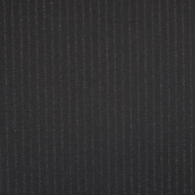 italian black copper striped wool suiting fw19137 11