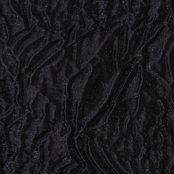 italian black crinkled silk matelasse 302702 11
