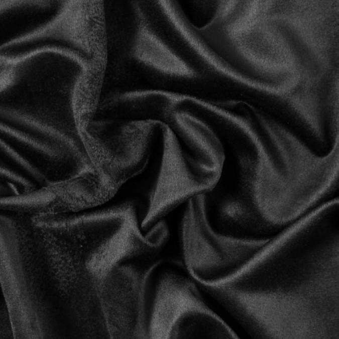 italian black faux brushed wool coating 312594 11