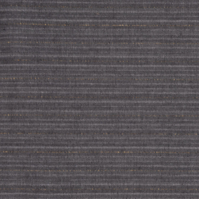 italian black olive gold herringbone stretch cotton suiting fc13757 11