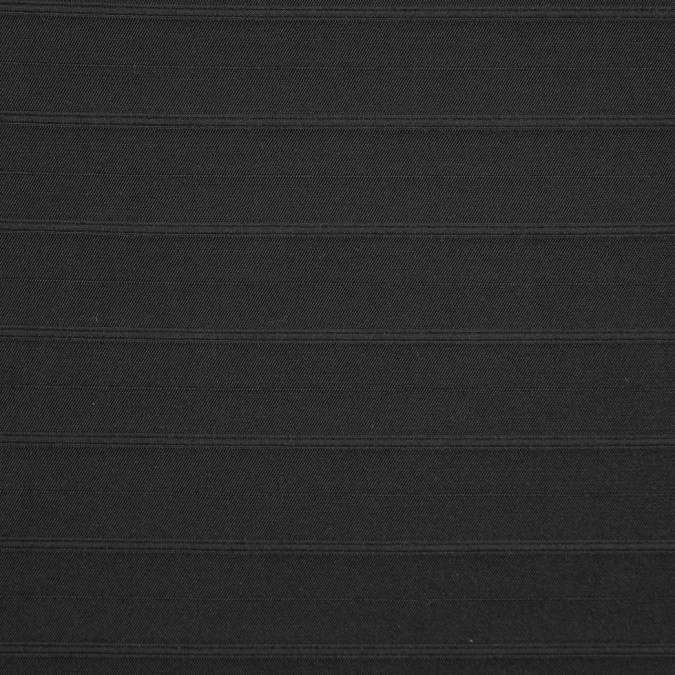 italian black on black striped stretch shirting suiting 310574 11