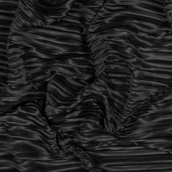 italian black pleated polyester woven 316311 11