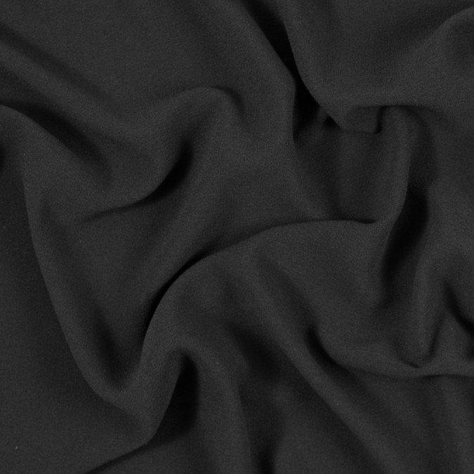 italian black stretch polyester crepe 312007 11