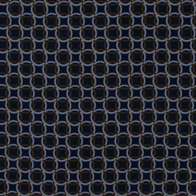 italian blue and green geometric stretch polyester 316791 11