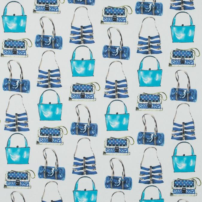 italian blue and white purse printed stretch cotton twill 316204 11