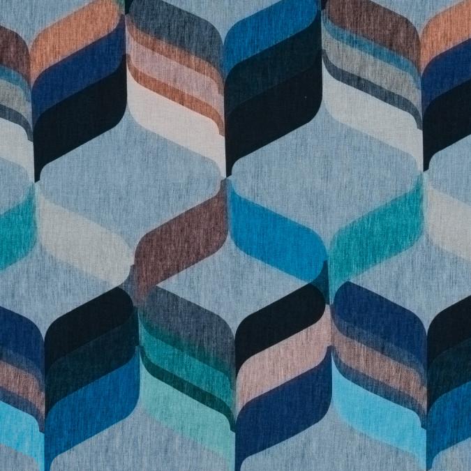 italian blue geometric jersey knit 316642 11