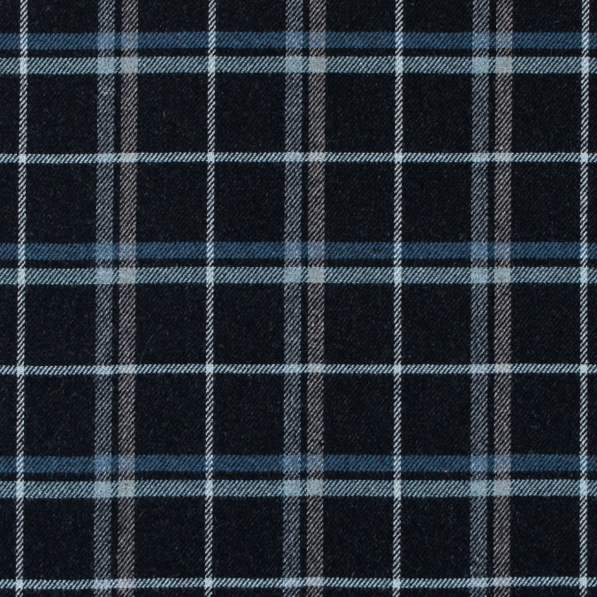 italian blue graphite tartan plaid wool twill 313653 11