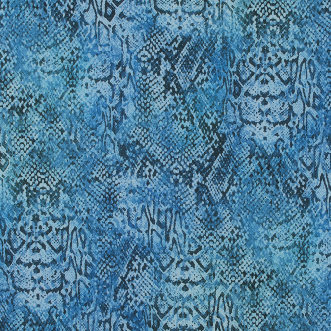 italian blue python digitally printed stretch polyester 316785 11