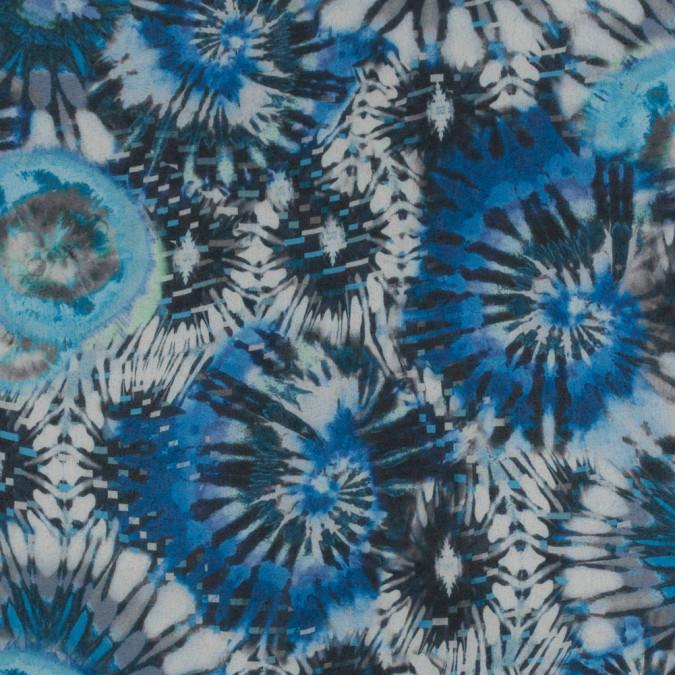 italian blue tie dye printed polyester chiffon 316160 11