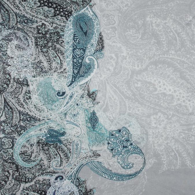 italian bordered paisley printed silk charmeuse 316359 11