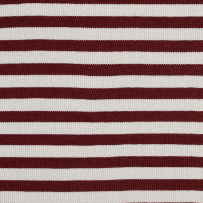 italian brick red awning striped cotton waffle knit 316377 11