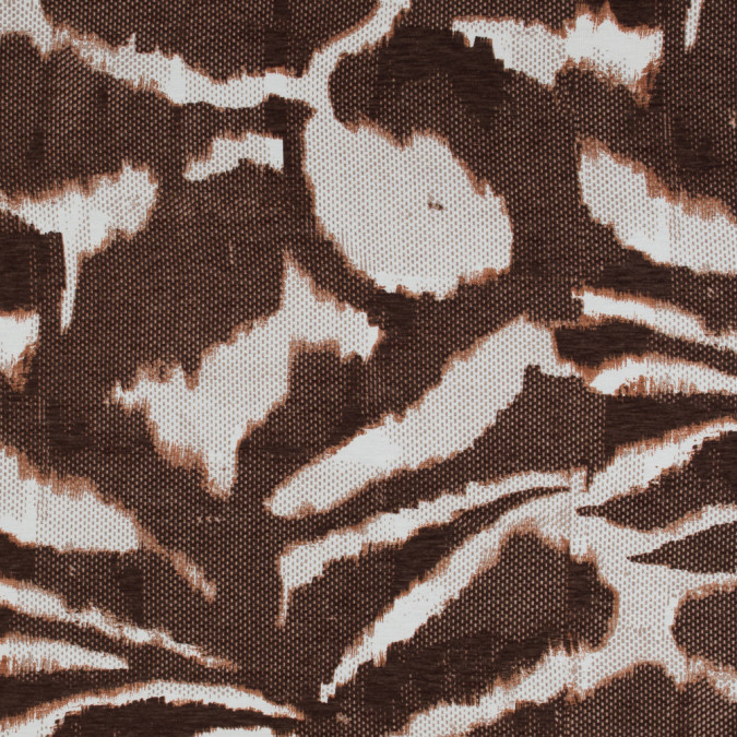 italian brown and ivory abstract viscose jersey 316727 11