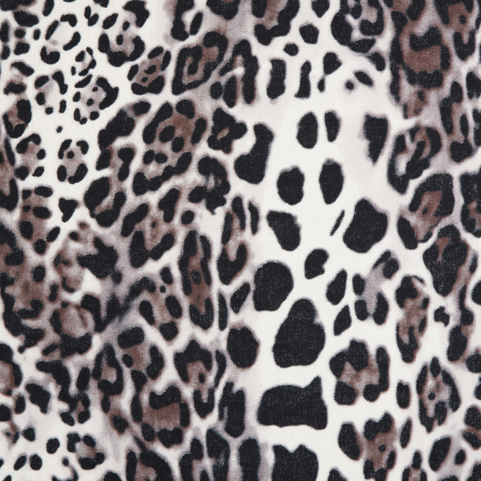 italian brown gray jaguar printed cotton batiste 310259 11