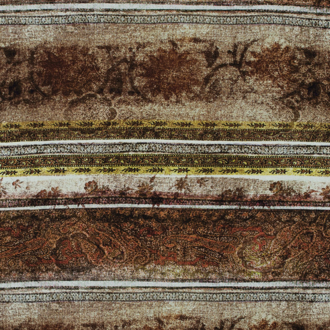 italian brown rustic striped printed jersey 316596 11