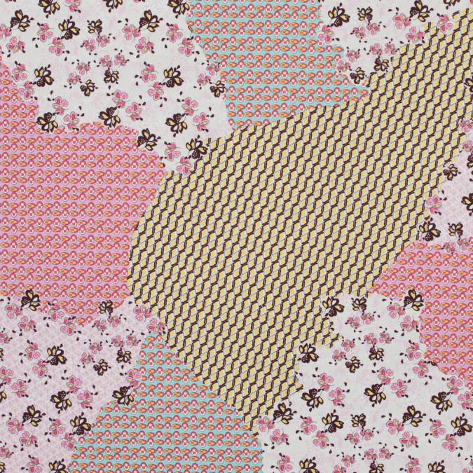 italian bubblegum pink patchwork printed batiste 317366 11