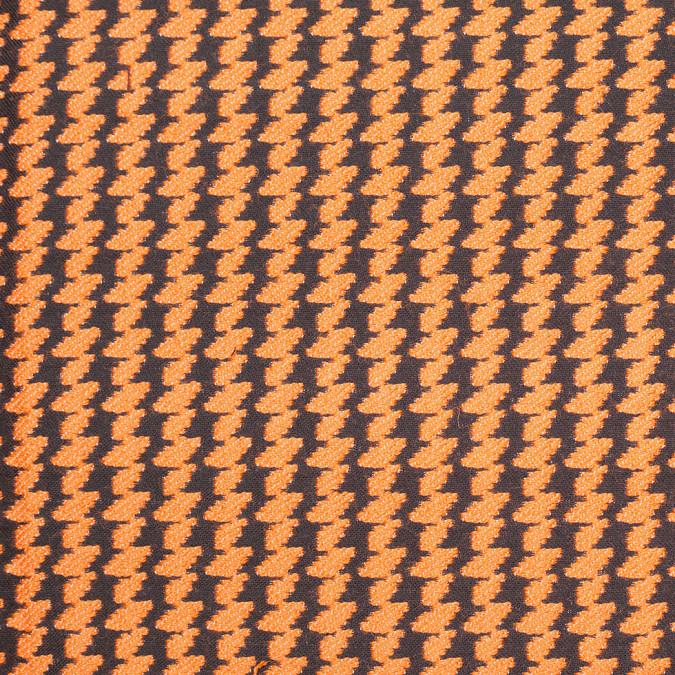 italian burnt orange black double faced wool poly coating 306853 11