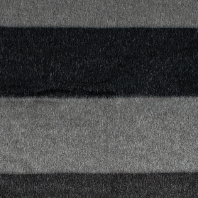 italian charcoal and black striped mohair wool coating 314980 11