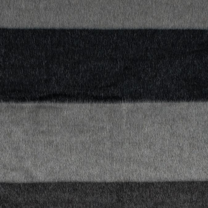 italian charcoal and black striped mohair wool coating 314980 11