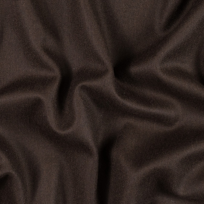 italian chocolate brown herringbone wool coating 313629 11