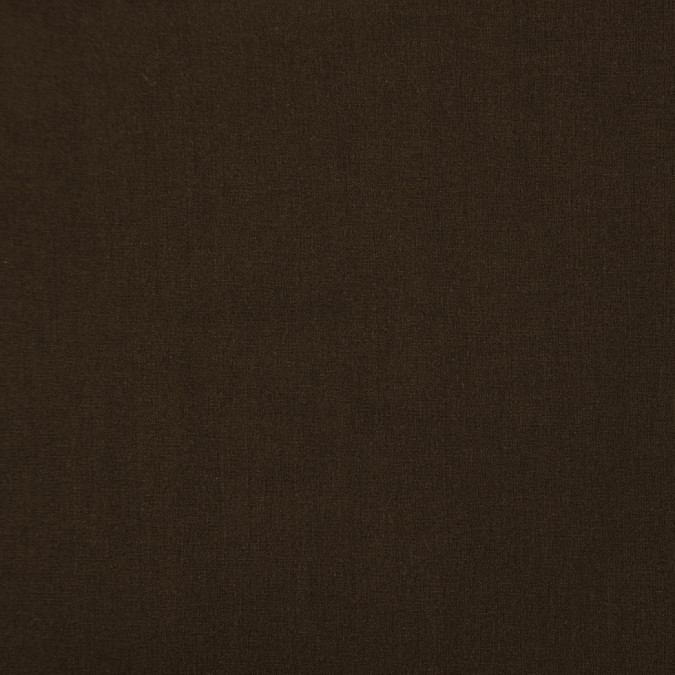 italian dark brown solid stretch wool crepe 300972 11