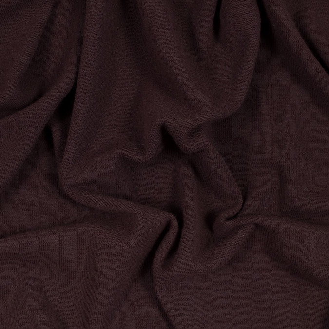 italian deep mahogany cotton rib knit 318298 11