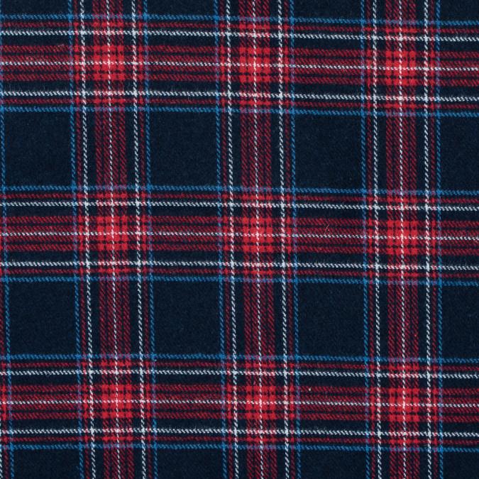 italian dress blues and jester red plaid wool twill 313655 11