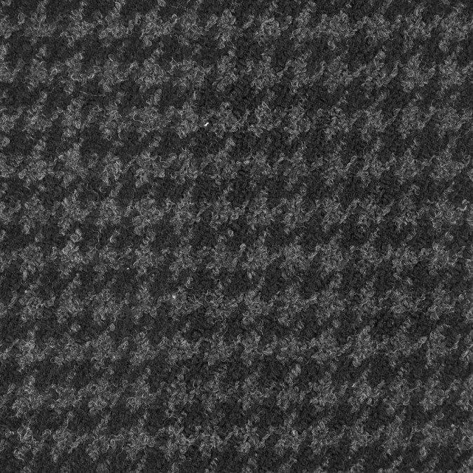 italian ebony dark shadow houndstooth wool boucle 310078 11