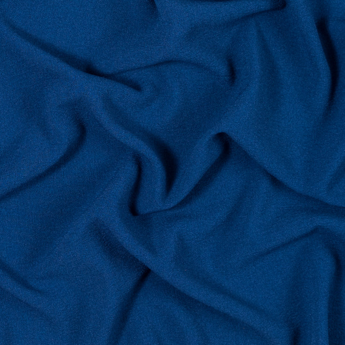 italian estate blue stretch polyester crepe 312006 11