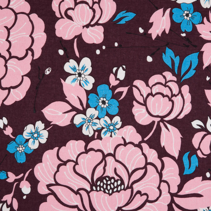 italian fig pink blue floral printed cotton batiste 310297 11