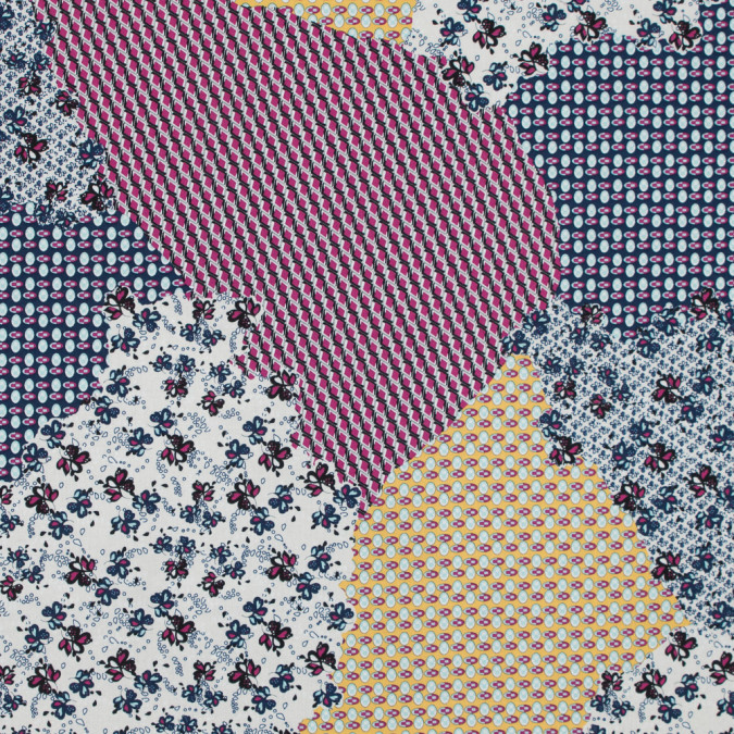 italian fuchsia patchwork printed batiste 317318 11